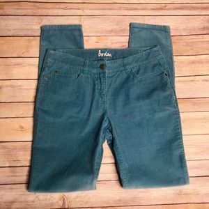 Boden turquoise blue corduroy skinny pants